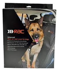advanced rear car seat cover for dogs protection zipped fully washable