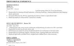 Housekeeper Resume Example Example Of Housekeeping Resume