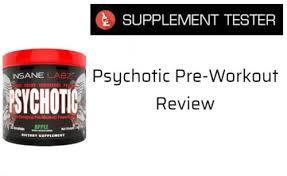 psychotic pre workout review supplement tester insane labz manson