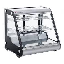 black commercial refrigerator bakery dairy display countertop digital controller