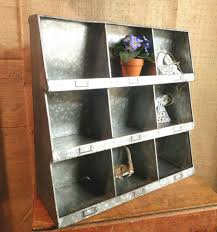 galvanized wall cubby e rack kitchen organizer wall cubbies industrial wall sorter
