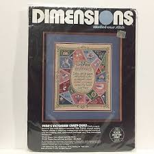 Dimensions Color Chart Veras Victorian Crazy Quilt Color Chart Counted Cross Stitch Nip Kit Dimensions Ebay
