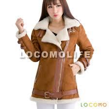women brown faux suede fur sherpa lined zipper biker coat s
