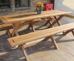 FY9EB3WGRCQ8E02 RECT2100 Outdoor Table And Bench Sleek Picnic With Detached  Benches 21 Table Outdoor Table And