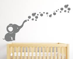 >amazon elephant family wall decal nursery wall decals  elephant bubbles wall decal nursery decor