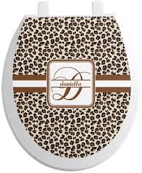 leopard print toilet seat decal personalized