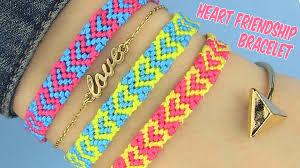 Heart Friendship Bracelet Pattern Awesome Ideas