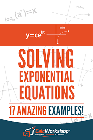 solve exponential equations with calcwork