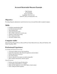 Template Accounts Receivable Resume Examples Clerk Account Example
