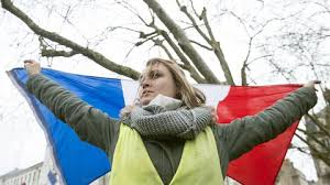 """Résultat de recherche d'images pour """"photos gilets jaunes et drapeau"""""""