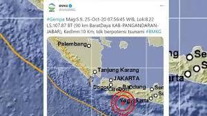 Gempa hari ini, informasi dari bmkg gempa bumi terkini, informasi gempa bumi hari ini, gempa bumi indonesia, data gempa bumi usgs, gempa aceh, gempa bumi terbaru, potensi tsunami. Gempa Hari Ini Guncang Pangandaran Magnitudo 5 9 Terasa Hingga Bandung Warga Sempat Keluar Rumah Tribun Kaltim