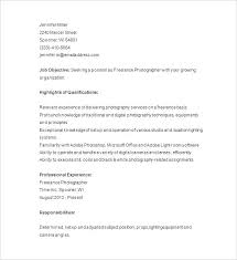Photographer Resume Template Photography Resume Templates