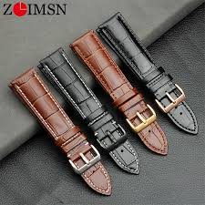 details about zlimsn genuine leather watch strap for 16mm 18mm 20mm 22mm 24mm width watch band