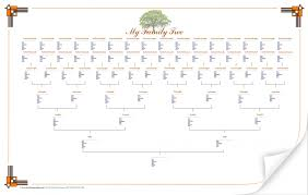 010 printable family tree template 39largelandscapetree astounding free with siblings 7 generations 6 1920