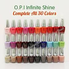 Opi Color Chart Opi Infinite Shine Set Of 30 All Colors Complete Collection Full Kit Whole Lot Ebay