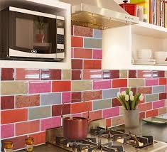 Red Brick Tiles Kitchen Aliexpresscom Buy Fancy Fix Vinyl 3d Wall Tile Peel And Stick