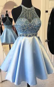 Short Light Blue Grad Dresses Short Prom Dresses Blue Prom Dresses Prom Dresses Short