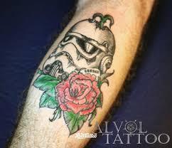 фото татуировки штурмовик в стиле авторский нео традишнл цветная