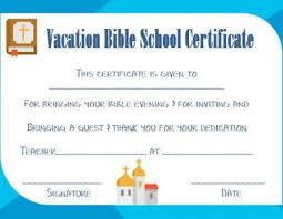 Vbs Certificate Template Vbs Certificate Template Certificate Templates Vacation