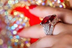 wedding anniversary gift ideas beautiful gold ring with large ruby 40th for husband milestones