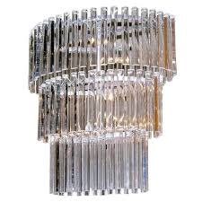 salviati vintage minimalist crystal clear murano glass oval chandelier for