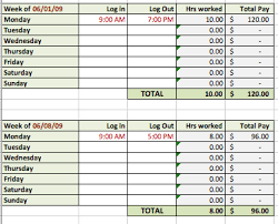 timecard hours 6 free timesheet templates for tracking employee hours