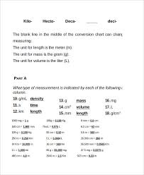 Metric System Conversion Chart 11 Free Word Excel Pdf