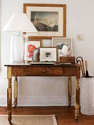 table for entryway. Weathered Vintage Table In An Entryway For