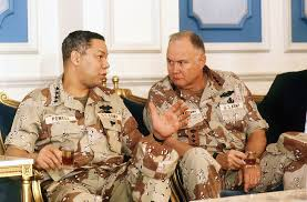general h norman schwarzkopf usa academy of achievement 1990 91 general norman schwarzkopf talks general colin powell chairman of the