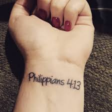 Philippians 413 Tattoo On Wrist I Can Do All Things Through