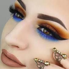 unique blue and orange eye makeup