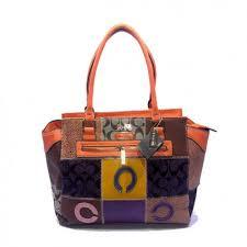 Coach Holiday Logo Medium Orange Satchels DKB