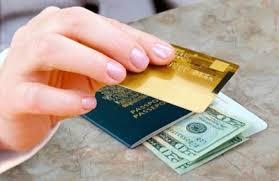 Imagem cartão de credito e dólar