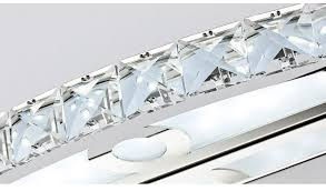 new 15w led crystal mirror wall lamp bathroom lights 90 260v stainless sconces indoor crystal