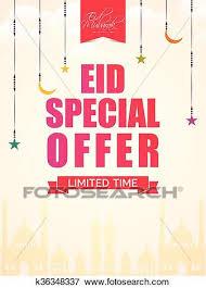 Special Offer Flyer Eid Special Offer Clip Art K36348337 Fotosearch