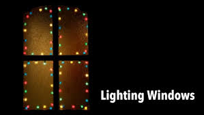 How To Decorate Window With Lights Using Lights To Decorate Windows Christmas Light Source