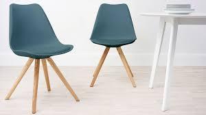 modern cushion teal dining chair