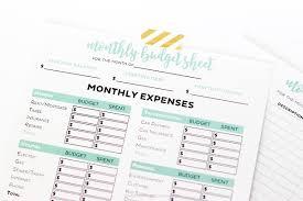 Printable Budgeting Sheets Simple Free Printable Budget Worksheets Printable Crush