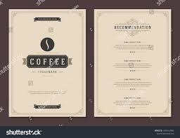 Coffee Shop Logo Menu Design Vector Stock Vector 1030167889 ...