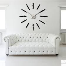 Diy Large Wall Mirror Diy Large Watch Wall Clock Decor Modern Design Creative Stickers