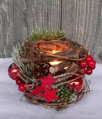 Holzkranz Tischdeko Windlicht Advent Adventskranz