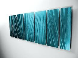 outdoor tropical wall art main attraction tropical ocean blue aluminum large modern abstract metal wall art