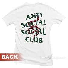 Anti Social Social Club Tee Size Chart Anti Social Social Club Assc Parody Gc Snake T Shirt