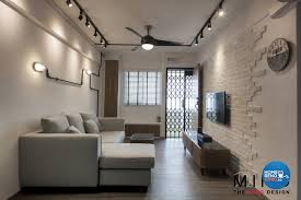 Industrial, Scandinavian Design - Living Room - HDB 3 Room - Design by The  Mind