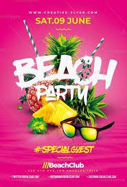 Beach Flyer Amazing Beach Party Flyer Psd Template Creativeflyers