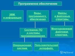 Презентация на тему Системное программное обеспечение Виды  Программное обеспечение ЭВМ и информация Виды программного обеспечения Файлы и файловые структуры Системное ПО и системы