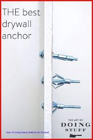 how to hang heavy shelves on drywall ideas