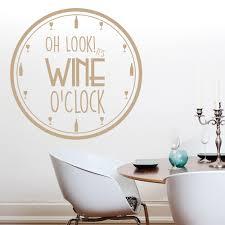 wine o clock wall sticker kitchen es wall decal food drink home decor