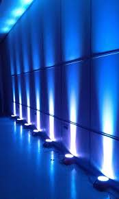 blue wall lighting lighting