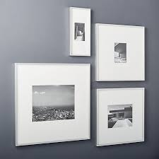 luxury ideas silver wall frames home remodel gallery brushed picture cb2 photo mounted art with plated